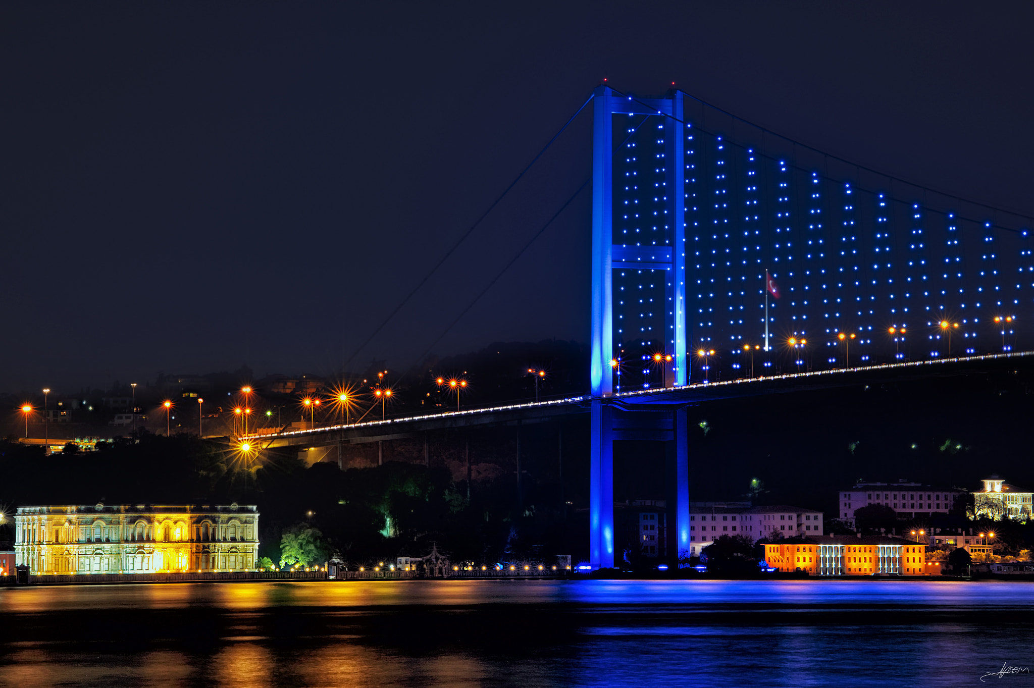 Photograph Bosphorus by night in Istanbul.. by Alp Cem on 500px