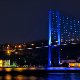 Bosphorus by night in Istanbul.. by Alp Cem (alpcem)) on 500px.com