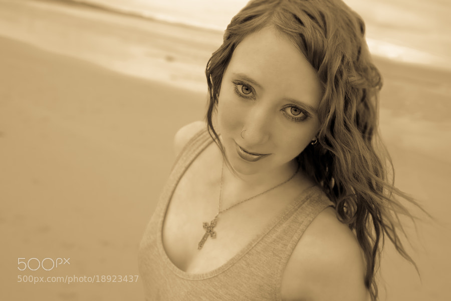 Jade Beach Sunset Portrait