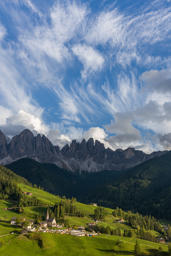 Photograph Santa Maddalena with dancing clouds. by Hans Kruse on 500px