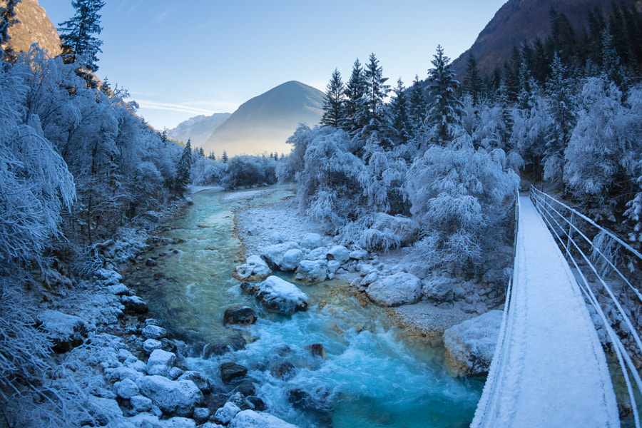 Soča River Frost by Jure Batagelj on 500px.com