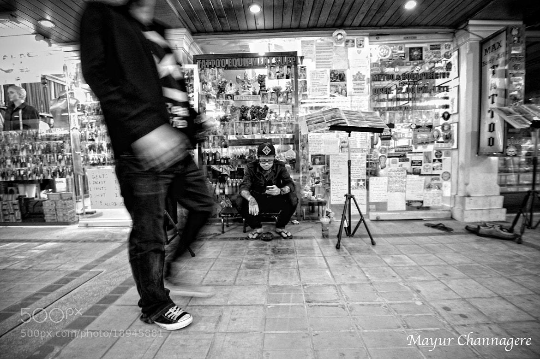 Photograph Tattoo Bar on KAU San road, Bangkok by Mayur Channagere on 500px