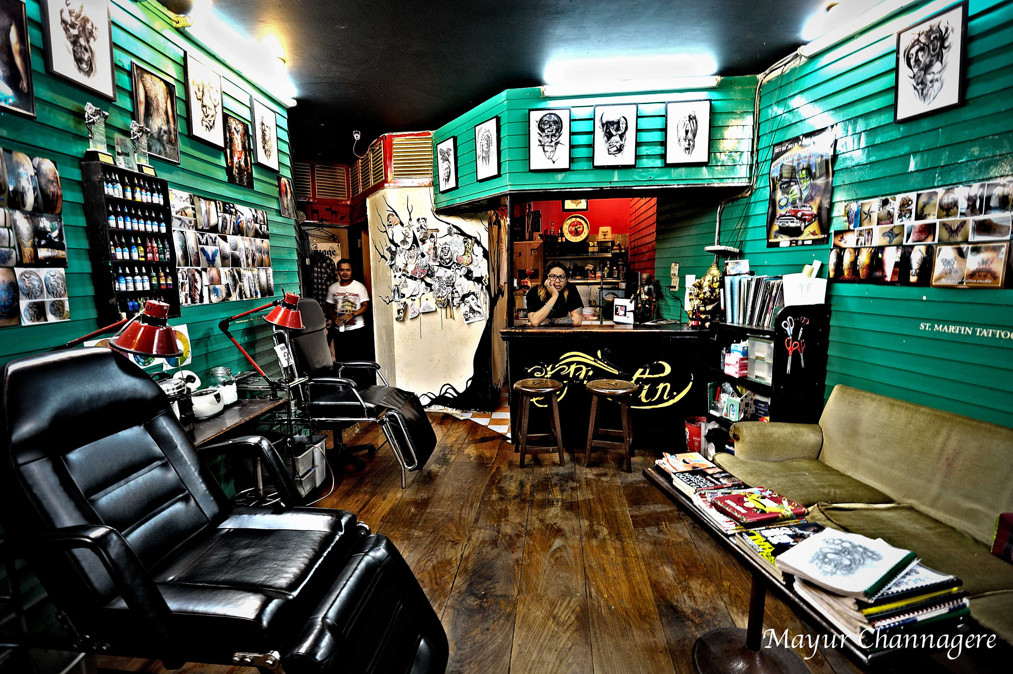 Photograph St. Martins Tattoo Bar on KAU San road, Bangkok by Mayur Channagere on 500px