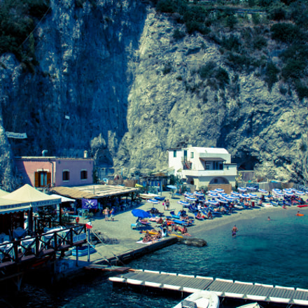 The beach of Conca dei Marini, Amalficoast