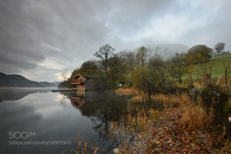 Ullswater boathouse awaits the dawn