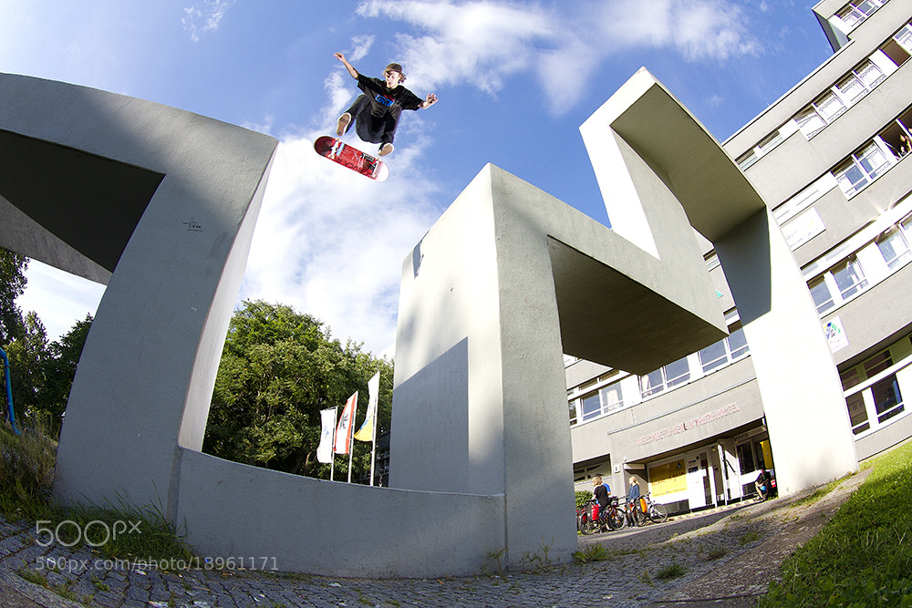 Photograph Ilja Judizki - Heelflip by Jonas Wedelstädt on 500px