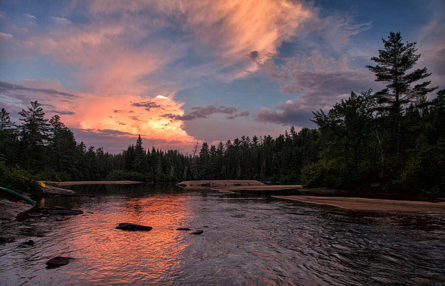 Photograph Noire River Sunset by George Cates on 500px