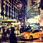 Yellow cab on 7th and 31st street.
