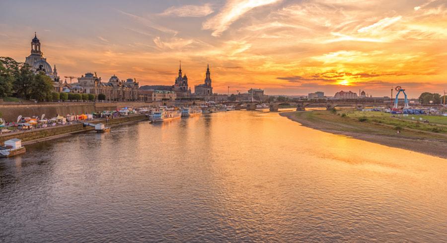 Dresden Historical Centre Sunset