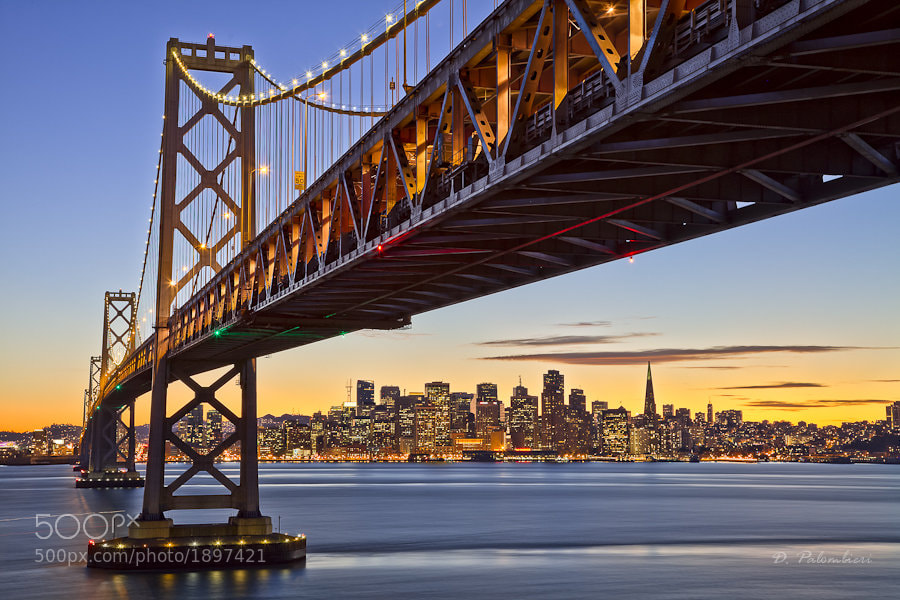 Photograph Bay Bridge at Sunset - San Francisco - CA by Dominique  Palombieri on 500px