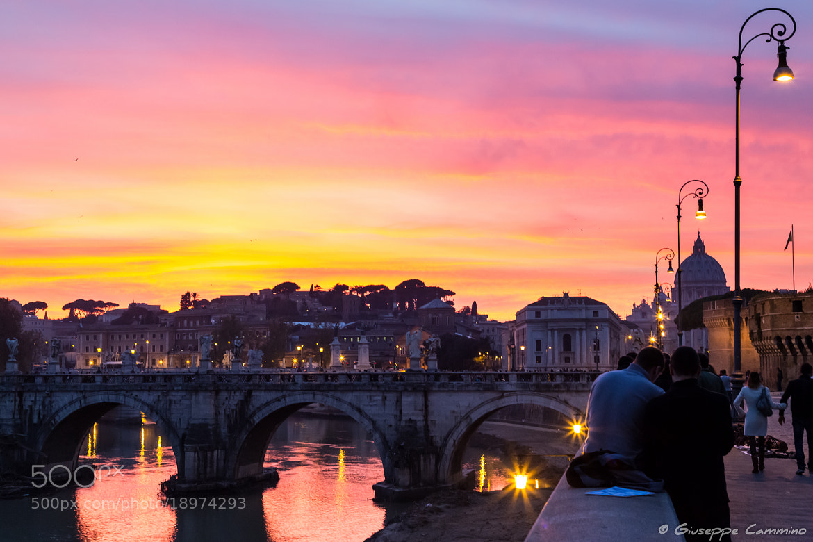 Photograph Sunset on Rome by Giuseppe Cammino on 500px