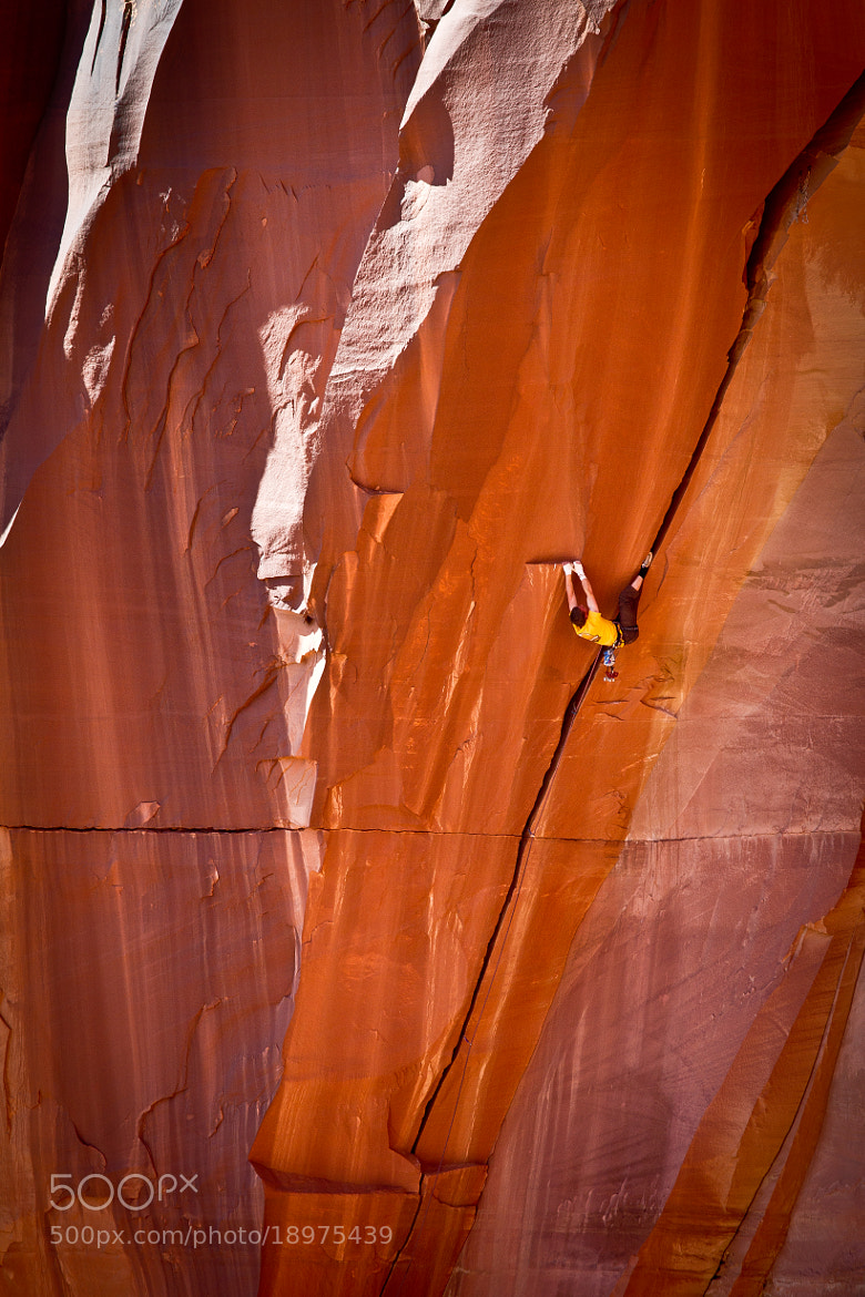Photograph Pete Whittaker on the first flash ascent of Belly Full of Bad Berries  by Alex Ekins on 500px