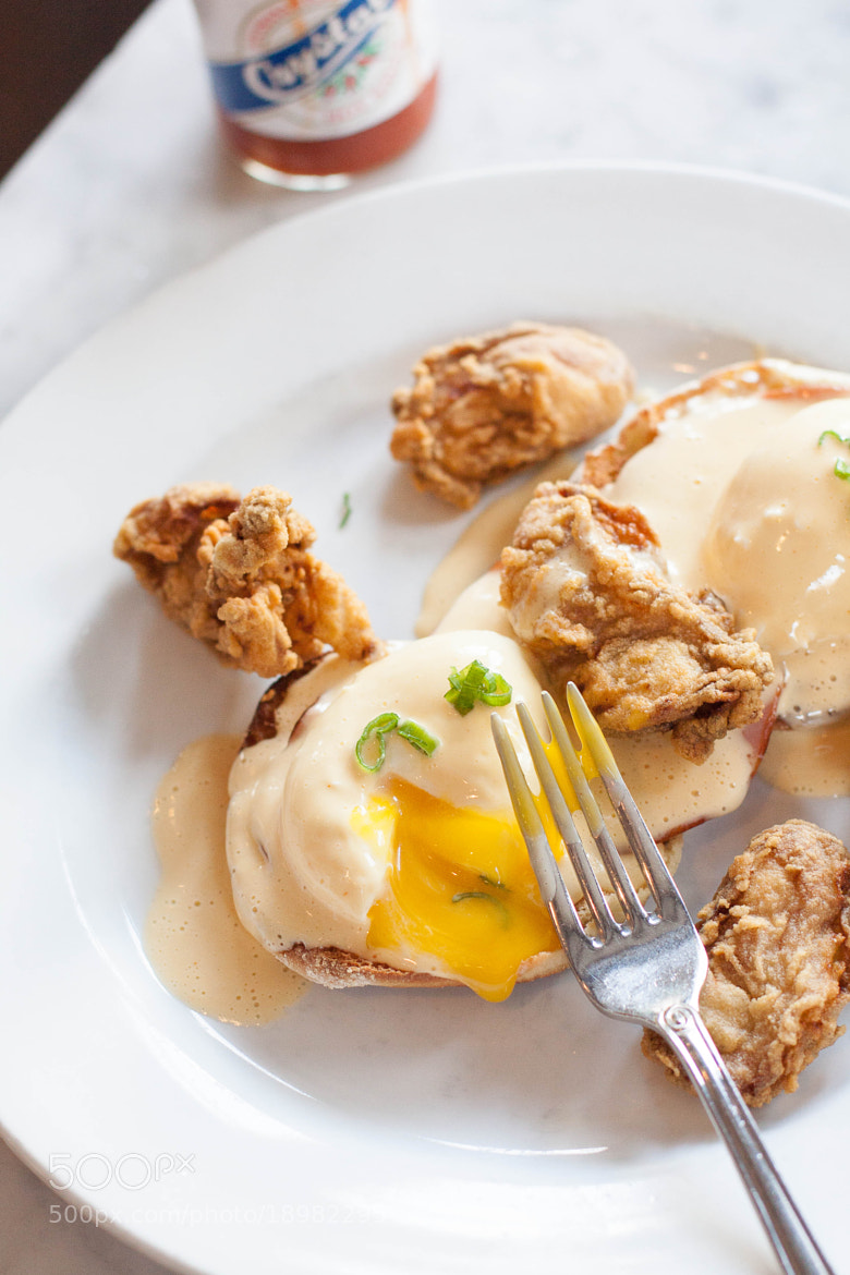 Photograph Fried Oyster Eggs Benedict  by Stephanie Hua on 500px