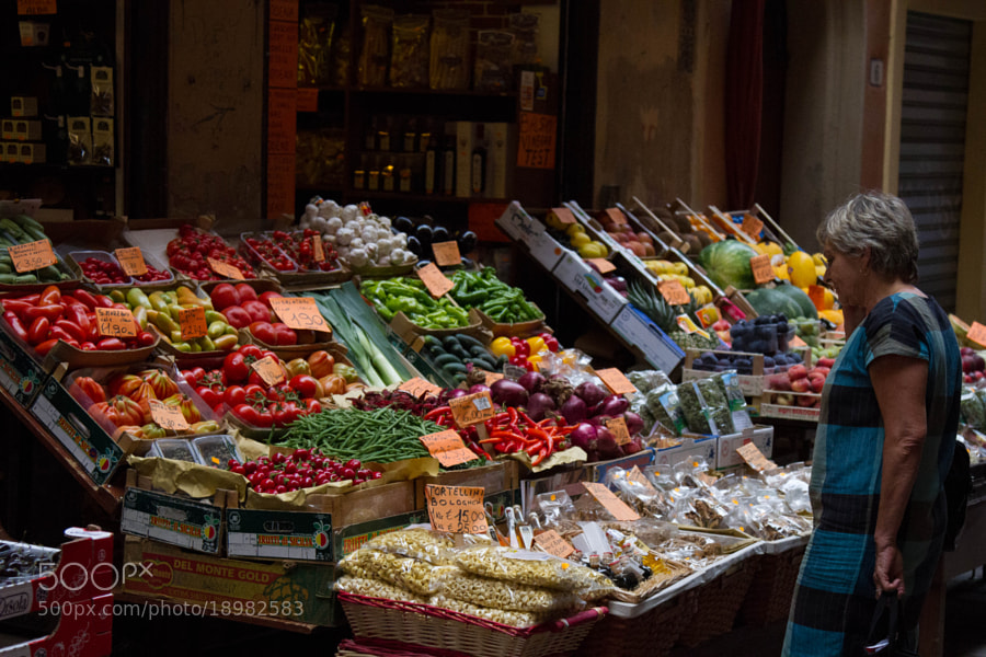 A day at the market in Bologna, Italy