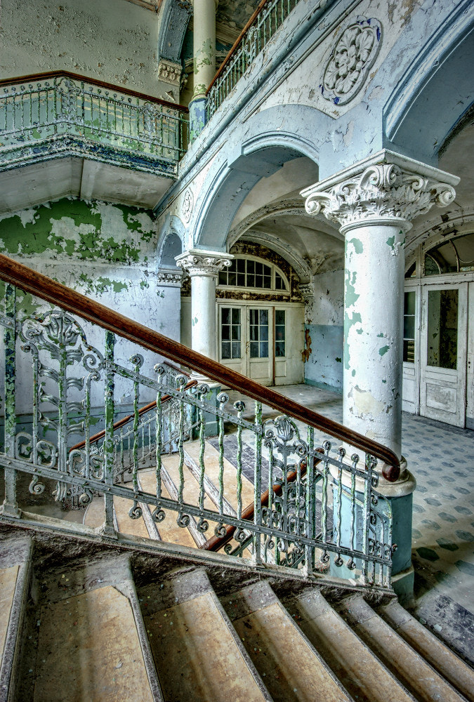 Photograph Blue Staircase by Jo Datou on 500px