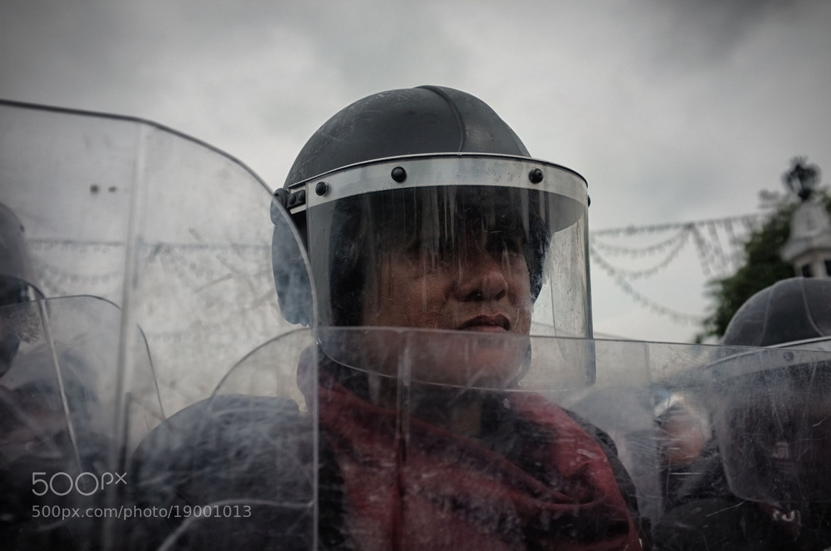 Photograph Thai riot police by Matthew Richards on 500px