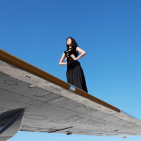 Sky, Plane and the Girl by Dinara Ratsko (DinaraR)) on 500px.com