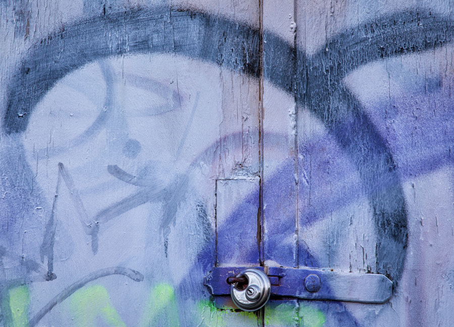 Graffiti and padlock