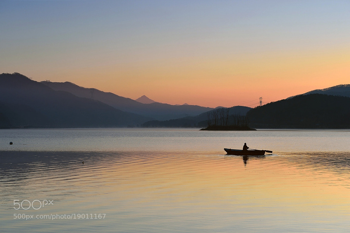 Photograph A Fisherman at Dawn by Young Sung Bae on 500px