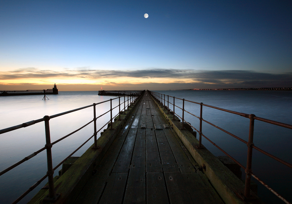Photograph Blyth Full Moon (composite) by Tom Lowe on 500px