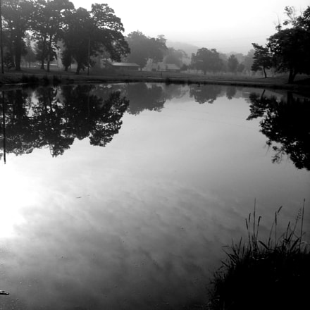 Still Pond Water Reflects, Canon POWERSHOT SD110