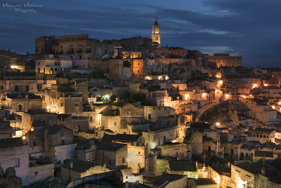 Matera, night view by mauro maione on 500px.com