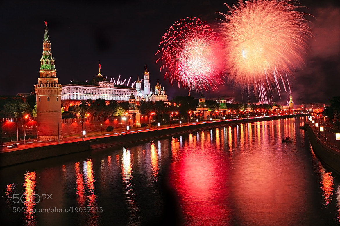 Photograph Kremlin in the night, Moskva by  Catuncia on 500px