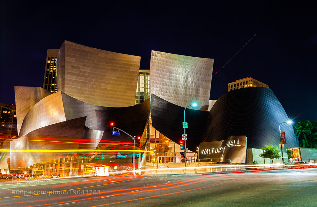 Photograph Disney Concert Hall at Night by Nhut Pham on 500px