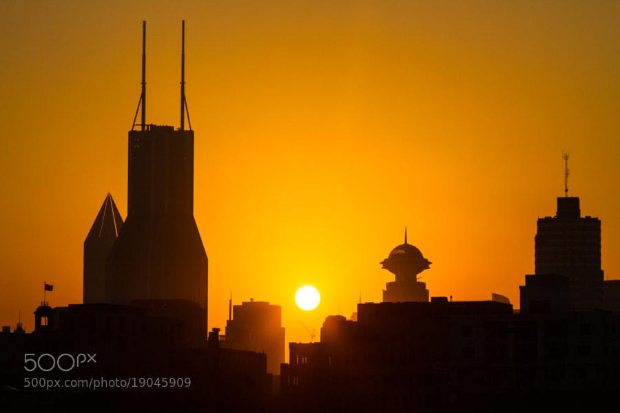 Sunset on Shanghai Skyline
