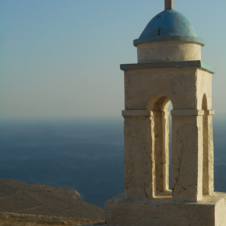 Lonely church,Tinos, Nikon COOLPIX S3700