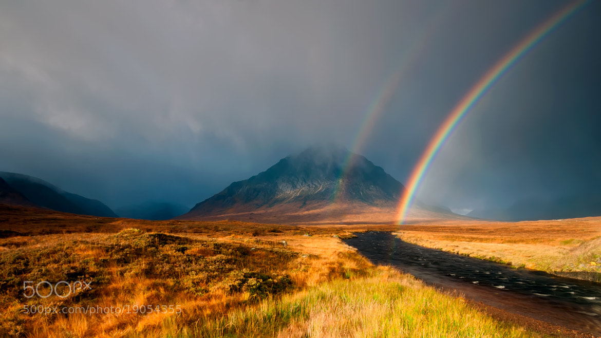 Photograph Rannoch Moor Rainbow by David Mould on 500px