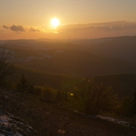 Sunset over Vosges, Sony DSLR-A850
