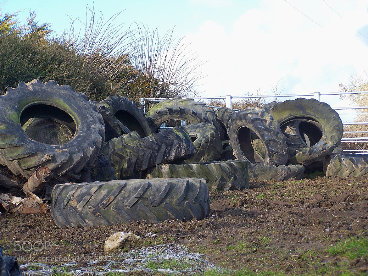 Photograph Tyres in the farm by Lucie Kornecka on 500px
