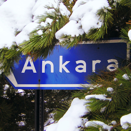 Direction Sign to Ankara, Nikon E2200