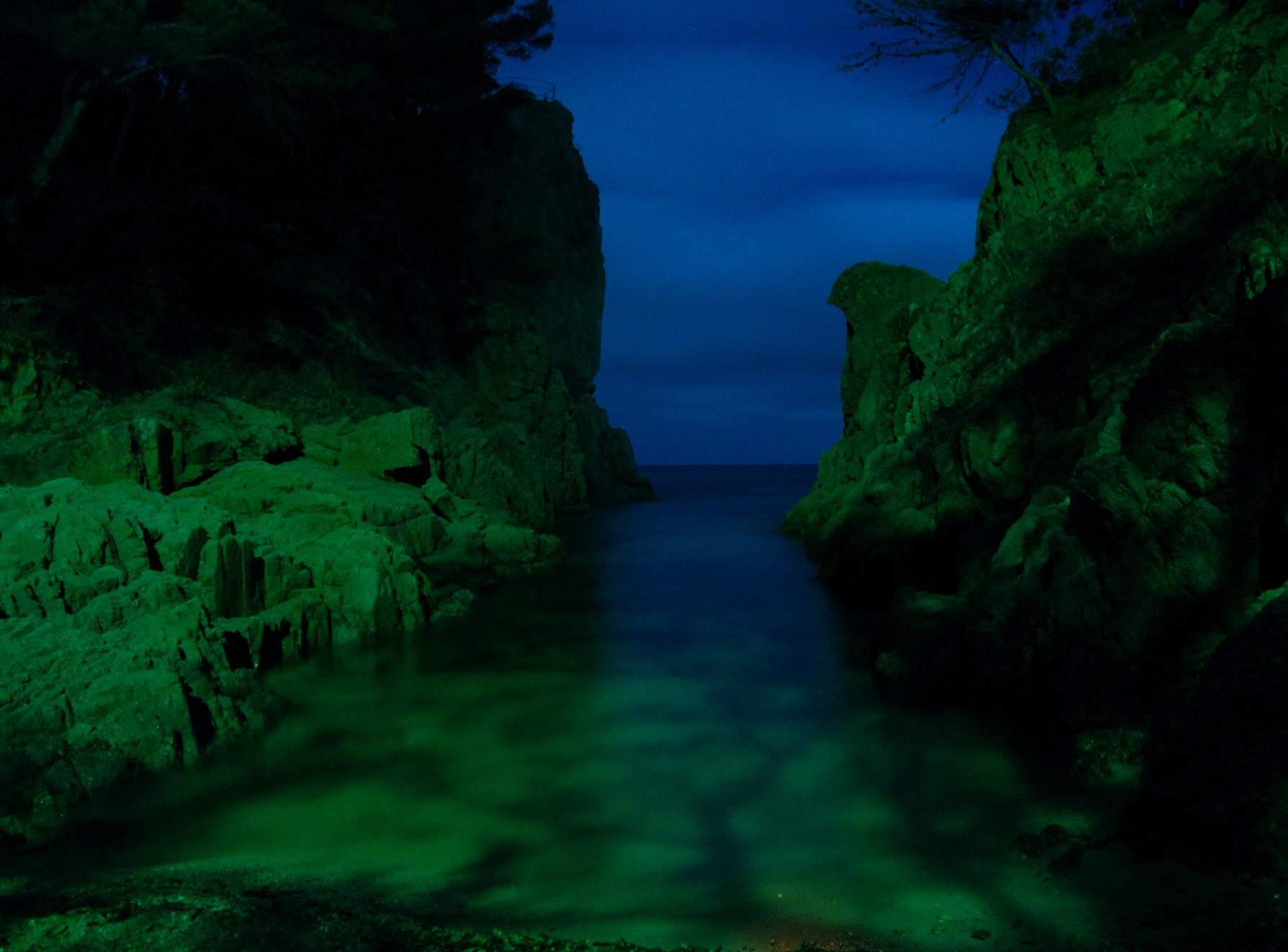 Photograph Quiet sea, night and colours by Armando Latorre on 500px