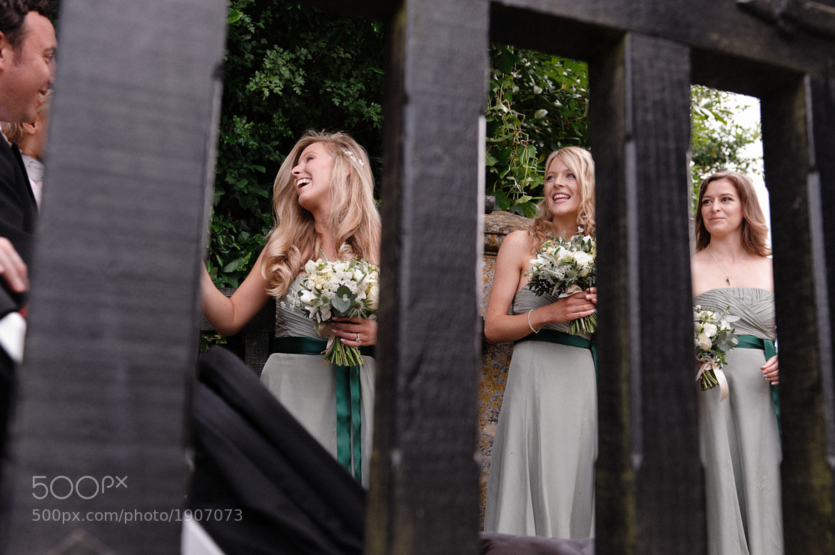 Photograph Three Bridesmaids and a Gate by Ian Bursill on 500px