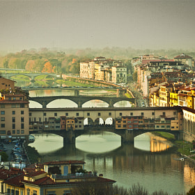 Today we went to Florence (from Modena - about 150 Km) and we found the peaceful easy feeling of a sweet, foggy, sunset from San Miniato Hill.
