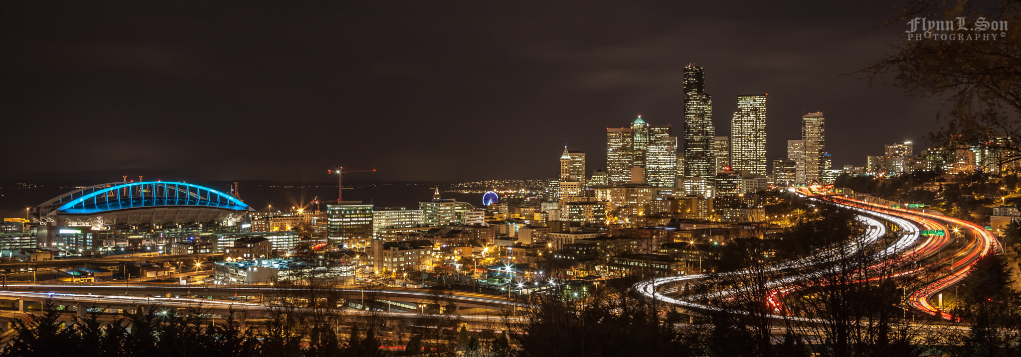 """Photograph """"All in One"""" about Seattle by Night by Flynn L. Son on 500px"""