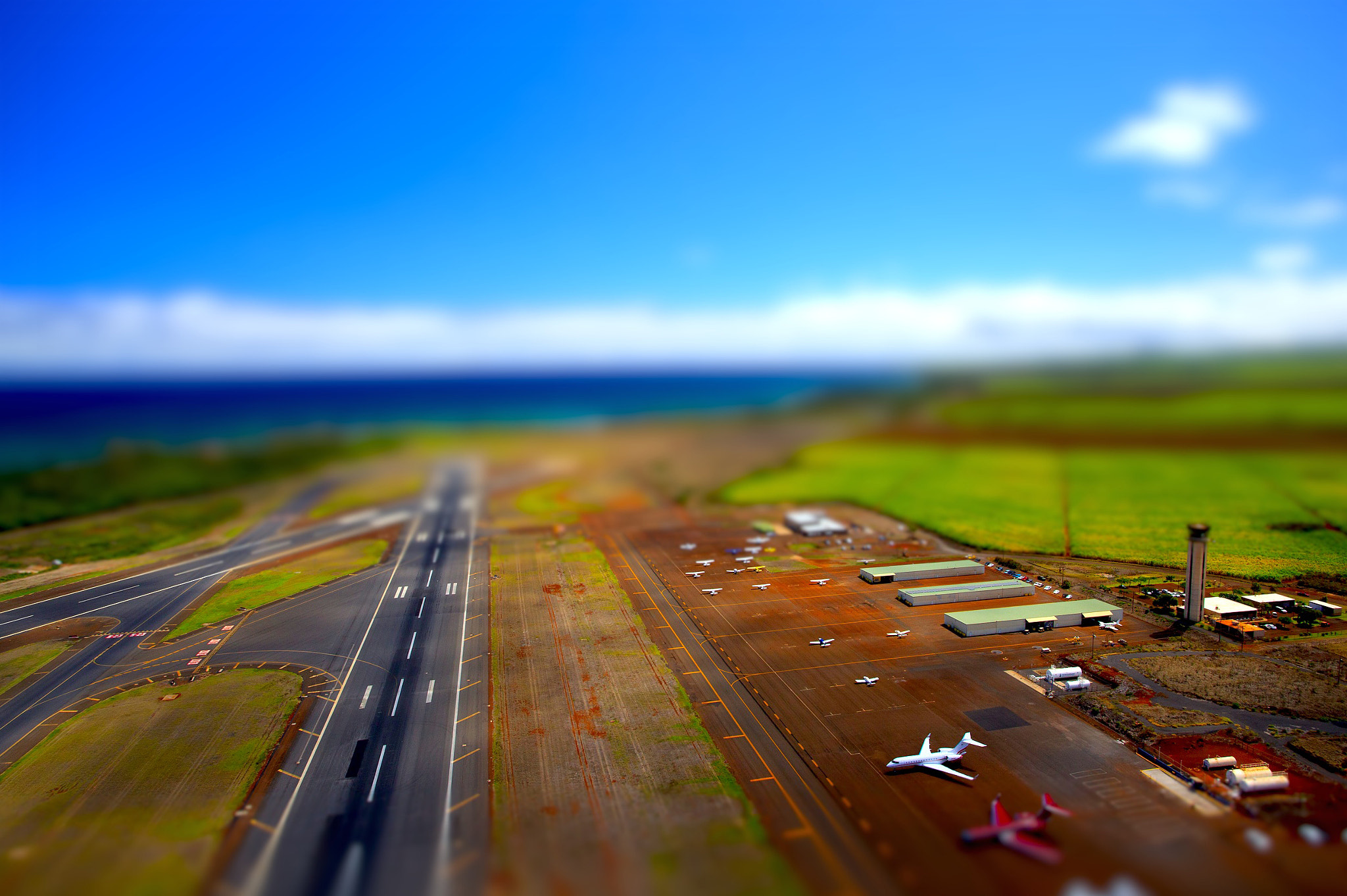 Photograph Kahului Airport Tilt/Shift by Dustin McGrew on 500px