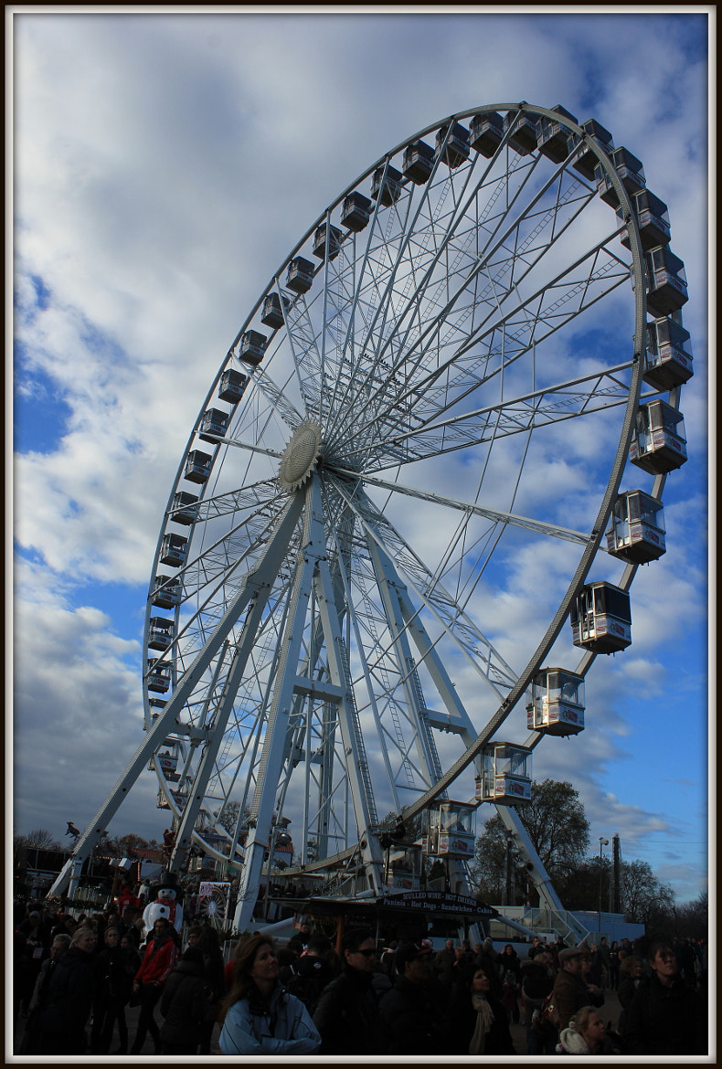 Photograph Giant Wheel with Cloudy Sky by Thangaraj Mani on 500px