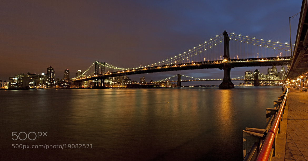 Photograph NYC Manhattan and Brooklyn Bridge by Dorothy Brodsky on 500px