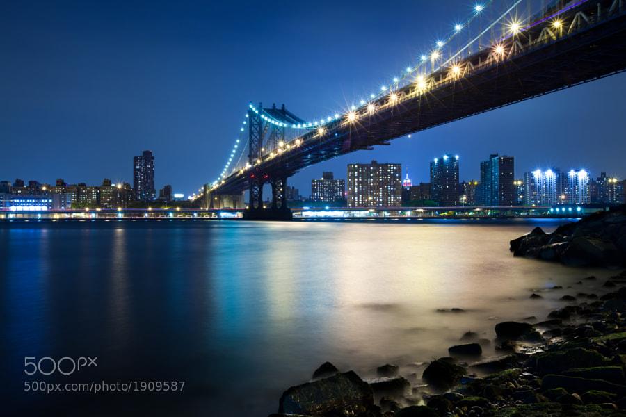 Manhattan Bridge at night  New York City