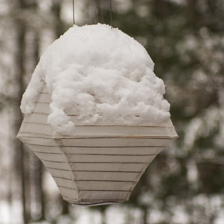 lantern with snow, RICOH PENTAX K-3, smc PENTAX-FA 100-300mm F4.5-5.6