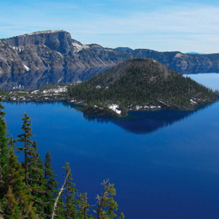 Crater Lake, Canon POWERSHOT A630, Canon EF 135mm f/2.8 Soft