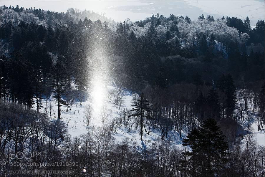 Photograph Kussharo Lake Sun Pillar by Martin Bailey on 500px