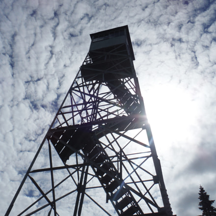 Stratton mountain fire tower, Fujifilm FinePix XP60