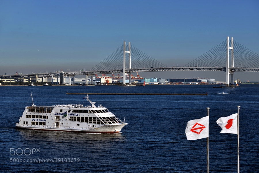 Yokohama Bay Bridge in autumn