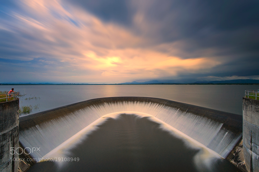 Photograph Reservoir evening by pick chon on 500px