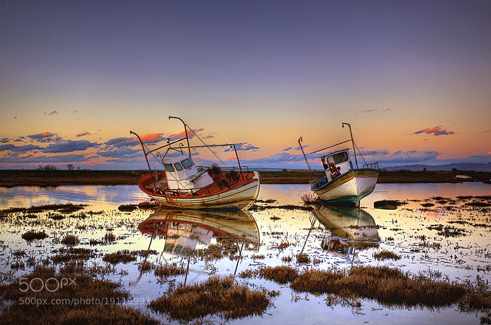 Photograph Sleeping boats by Christos Lamprianidis on 500px