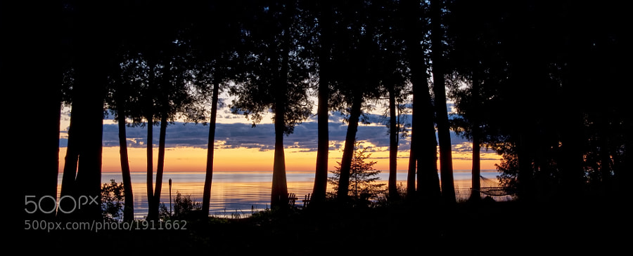 This was taken from the back porch of the house we stayed in, in Door County, Wisconsin.  I was blown away by the sheer beauty - the colors were so vibrant.